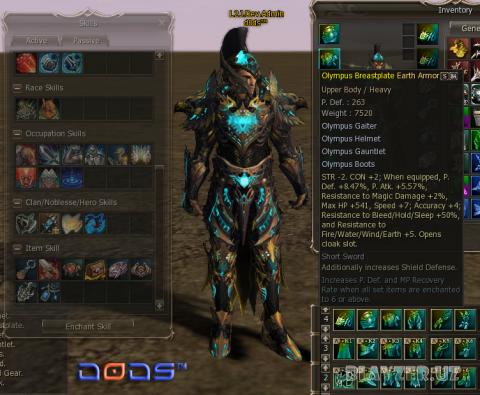 [Freya-H5] Olympus Armor Set