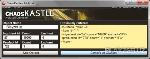 ChaosKastle - Прога для создания Multisell для GmShop