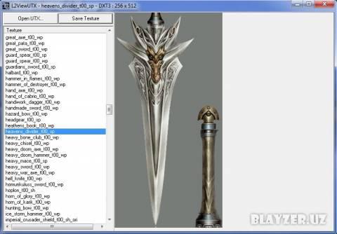 L2viewUTX - просмотр и извлечение текстур Lineage II